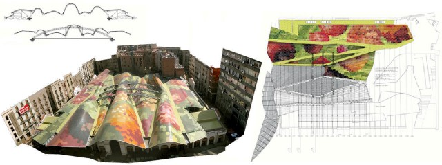 P l o t 06 mercat de santa caterina grc studio - Cubierta sobre plots ...
